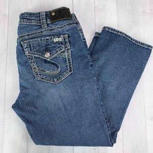 Silver Jeans Suki Mid Capri Stretch Denim